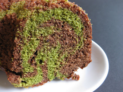 photo of Matcha Green tea chocolate swirl cake