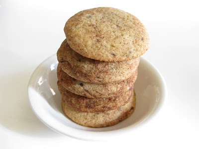 photo of a stack of Cinnamon Cappuccino cookies