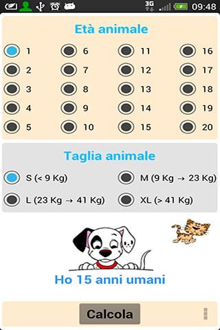 Calcola età cane e gatto Plus