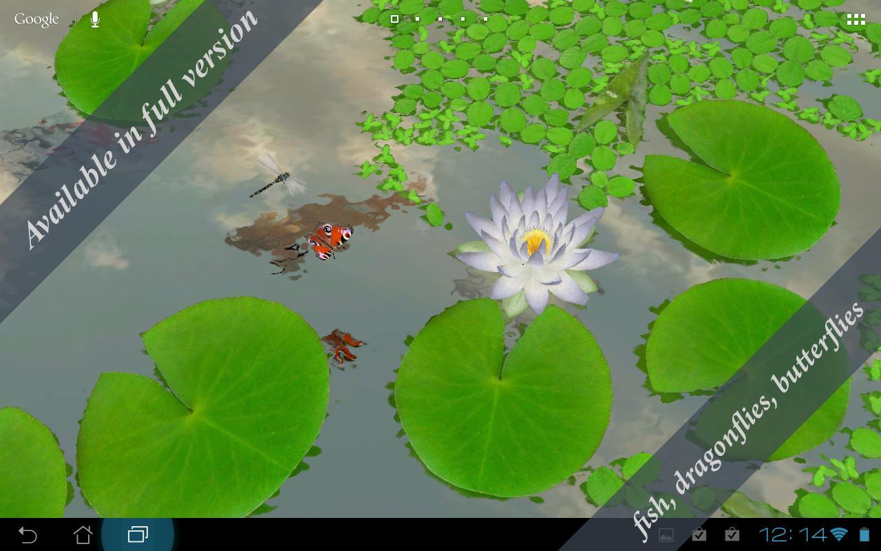 3D Lotus Live Wallpaper Free- screenshot