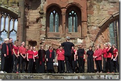WorldSong in Coventry cathedral ruins 2005