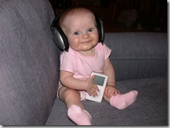 baby with ipod