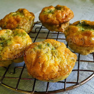 Cheese Broccoli Egg Muffin.