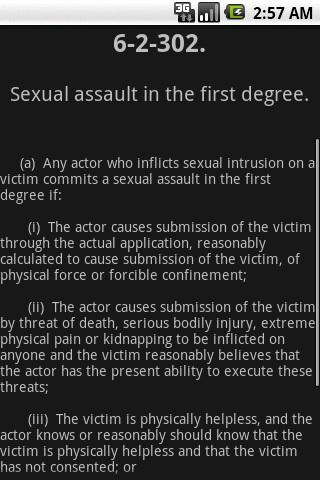 WYLaw - Criminal Law - Title 6- screenshot