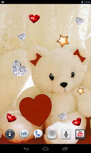 Valentine Bears live wallpaper