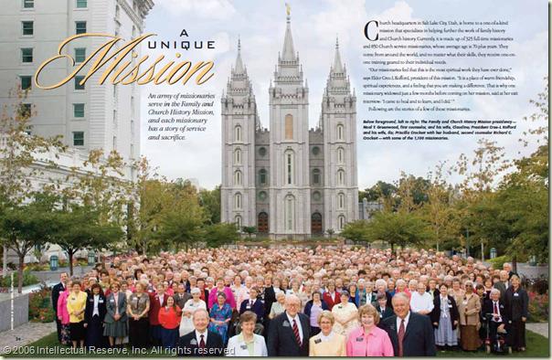 一群家庭历史传教士