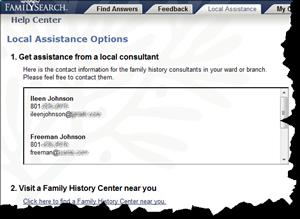 Fumanysearch.帮助中心有一个新标签,'Local Assistance'