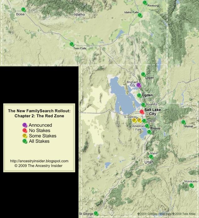 新家庭搜索 Rollout Map for 2 Nov 2009