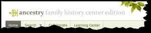 在祖先家族历史中心版顶的标志