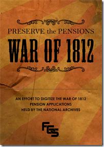 FGS.. Preserving War of 1812 Pensions