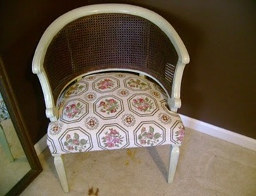vintage cane back chair