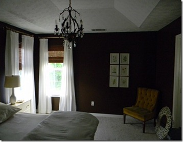 brown master bedroom