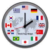 World Flags Widget Clock