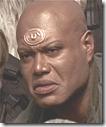 Tilk, con su característica expresión hieratica similar a la del vulcano de Star Trek