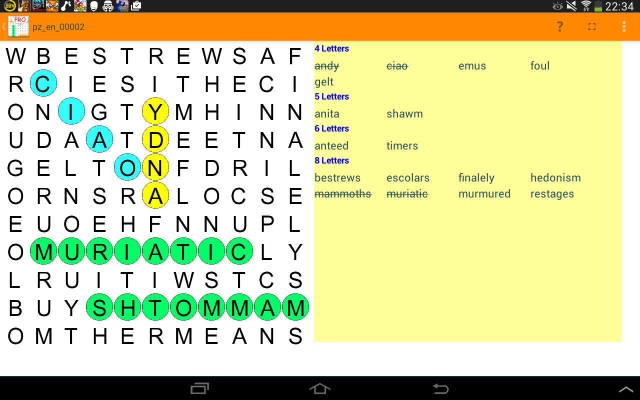 Word search words find games- screenshot