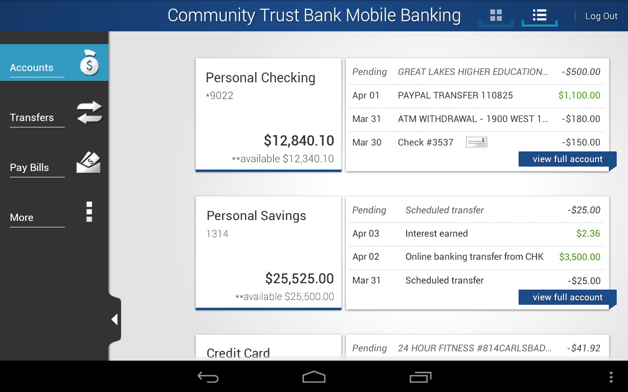 Community Trust Bank Mobile - screenshot