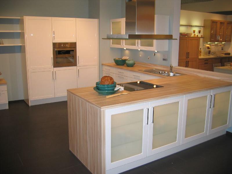 impuls wohnk che ip 4750 u form hochglanz wei kernahorn creme alno ag ebay. Black Bedroom Furniture Sets. Home Design Ideas