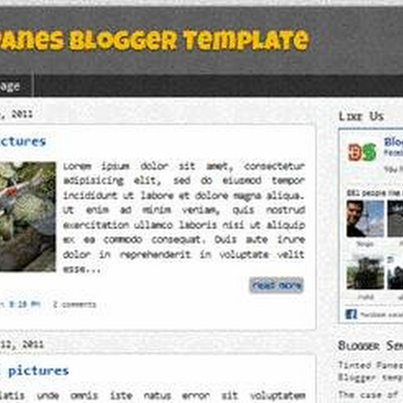 Free Designer Blogger template: Tinted Panes