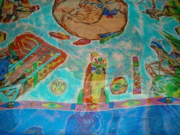 Silk Chiffon Silk Scarf Print