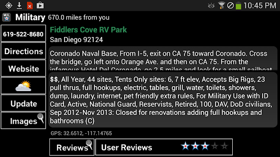 Military Campgrounds RV Parks - screenshot thumbnail