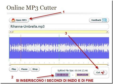 Online MP3 Cutter per creare gratis delle suonerie da brani musicali