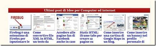 slideshow ultimi post per blogger
