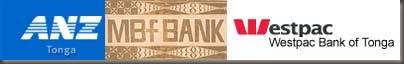Logos of Tonga's 3 Commercial Banks