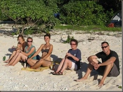 Hanging out on the beach near Holonga, Vava'u