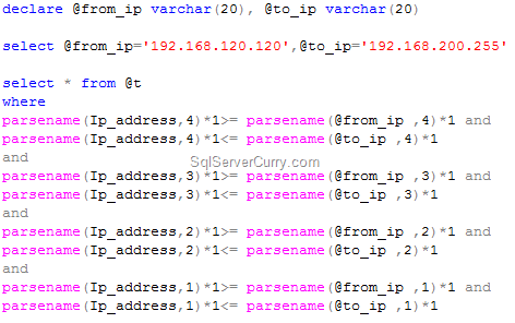 SQL Server IP Address