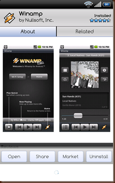 Winamp for Droid 1