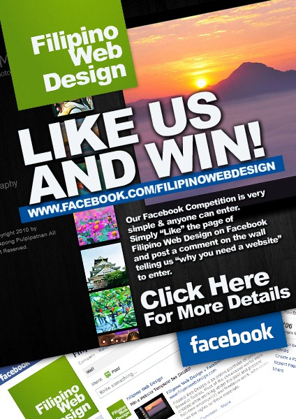 Check Out This Facebook Compeion To Win A Website Template