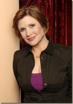 "ON THE LOT: Actress, author and screenwriter Carrie Fisher (""Star Wars,"" ""Postcards from the Edge"") serves as a judge on the new moviemaking competition series ON THE LOT premiering Tuesday, May 22 (9:00-10:00 PM ET/PT) on FOX. ©2007 Fox Broadcasting Co. Cr: Mike Yarish/FOX"