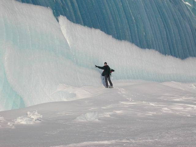 Frozen Wave or Ice Formation in Antactica Dome C