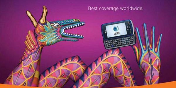 23 creative ads by AT&T [hand-modelling advertisements] - Chinese dragon