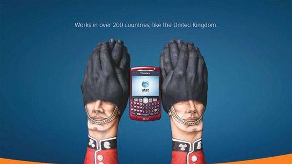 23 creative ads by AT&T [hand-modelling advertisements] - Scottish guards