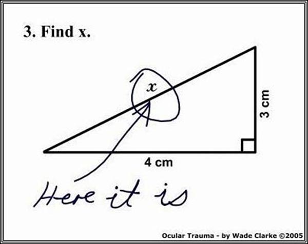 Why are teachers stressed - Finding x in Geometry triangle Pythagoras theorem