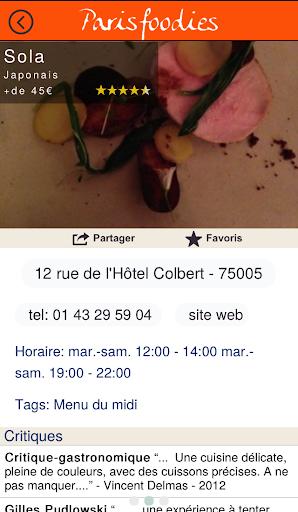 Paris Foodies restaurants