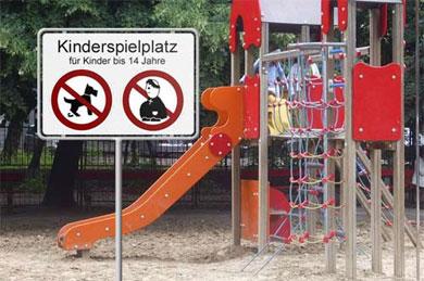 Spielplatzverbot