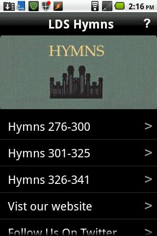 LDS Hymns - screenshot