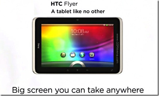 htc flyer video