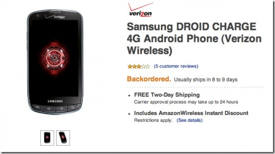droid charge amazon