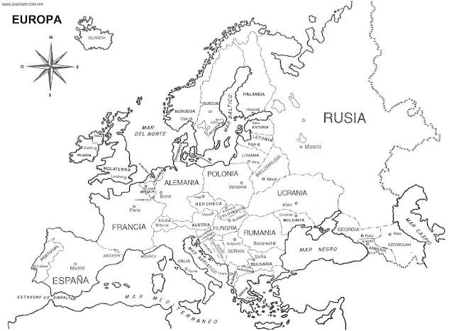 Los Continentes Mapas Para Pintar