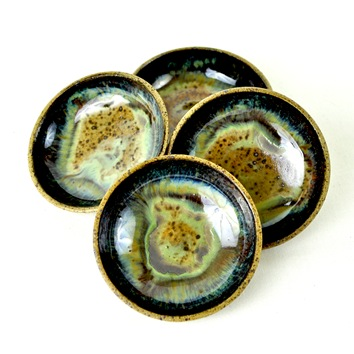 Psychedelic skies mini dipping bowls by glazedOver Pottery 2