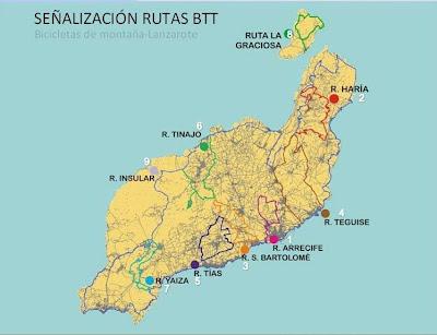 Mis Rutas De Senderismo Flaca Y Btt Más Información Sobre Btt En Lanzarote Rutas Y Vuelta A La Isla