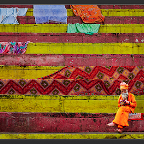 Concentration by Subrata Kar - City,  Street & Park  Street Scenes ( colour, beneras, ganges, holy, working )