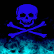 Blue Crossbones Live Wallpaper