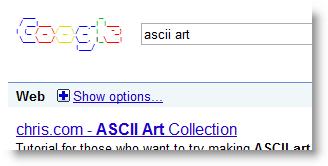 Ascii Art Google