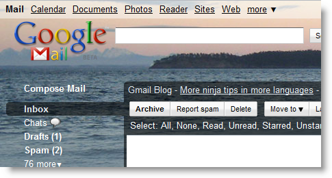 Orcas Island Google Mail Theme