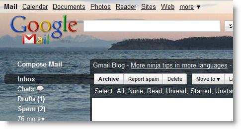 Orcas Island Google Mail Theme