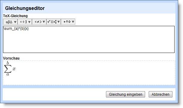 Google Docs Gleichung